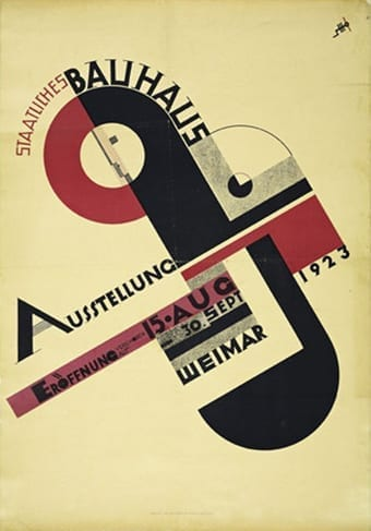 Joost Schmidt, Poster for Bauhaus Exhibition, Weimar 1923