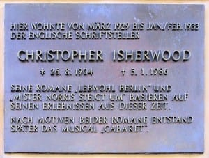 Christopher Isherwood plaque in Berlin