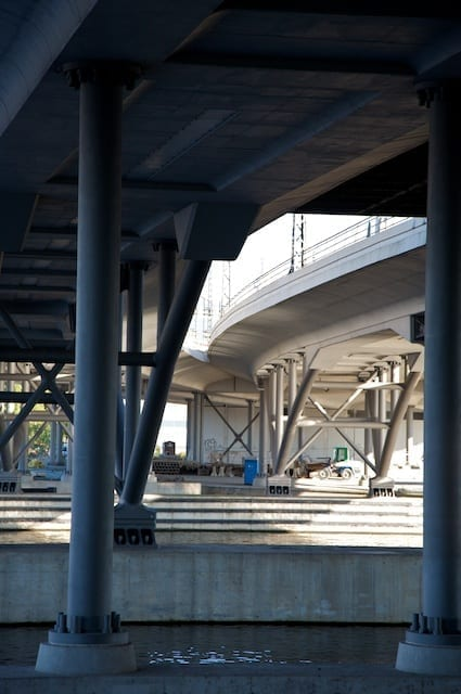 Beneath Hauptbahnhof (Photo by Paul Sullivan)