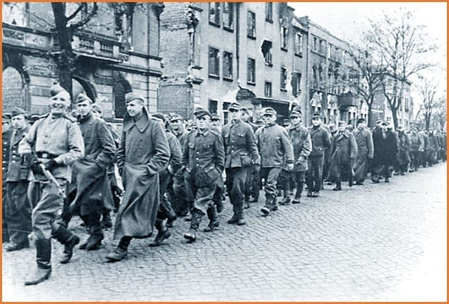 Red Army marching into Berlin, 1945