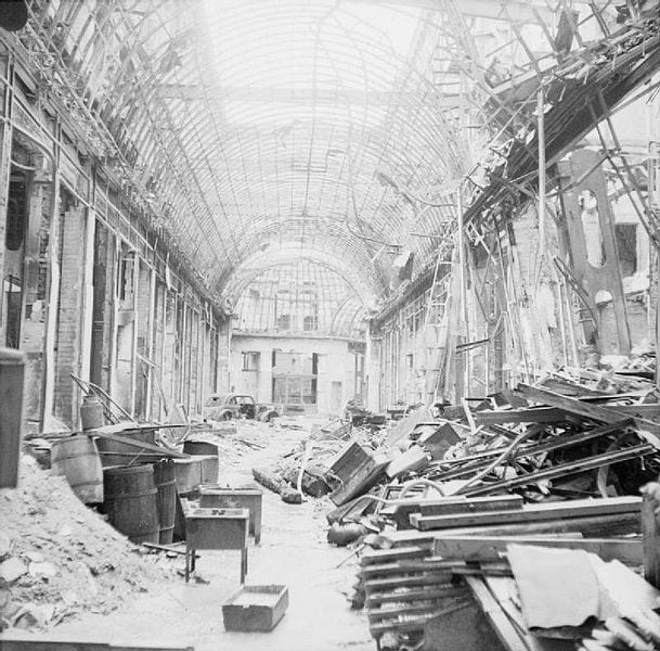 Destruction of the Linden Passage, 1945
