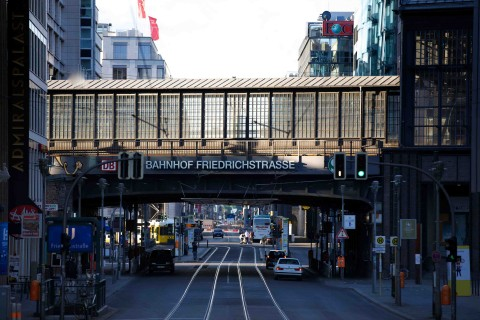 Friedrichstrasse S-Bahn station used to be a border crossing and the last station before West Berlin from the east.
