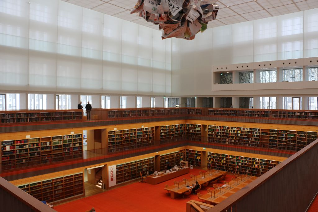The Reading Room at Unter den Linden. Image by Robin Oomkes.