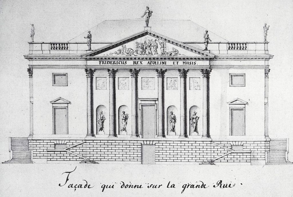 Drawing of the Opera House facade