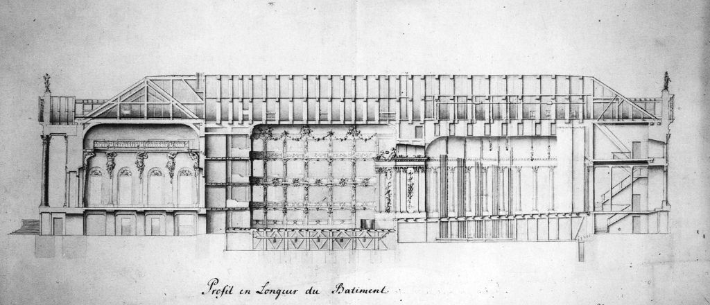 Drawing of the side of the Opera House