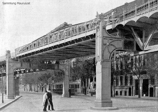 Hochbahn Viaduct in Gitschiner Strasse designed by Alfred Grenander