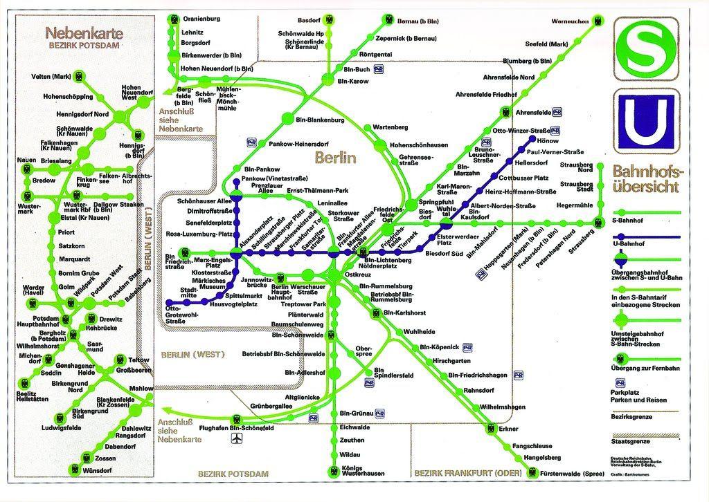 1989 S-Bahn map