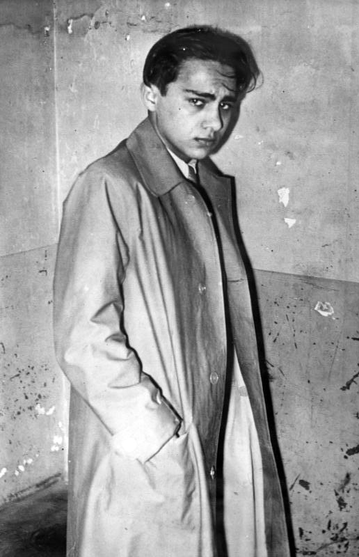 Herschel Feibel Grynszpan after being arrested by French police on 7 November, 1938
