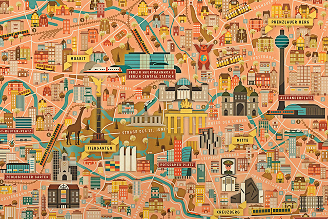 Berlin-City-Map_A1_Illustrated-by-Vesa-Sammalisto-detail
