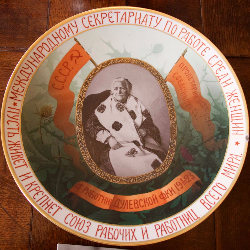 Gift plate received from Russian china workers
